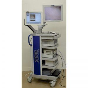 colonne-de-coeliochirurgie-karl-storz-avec-2-moniteurs-storz-ecran-plat